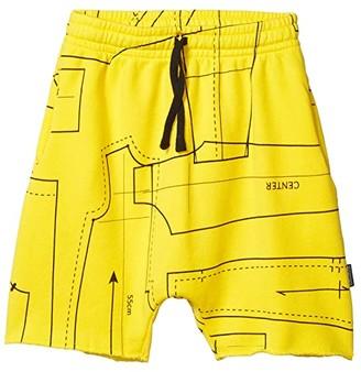 Nununu Rounded Sewing Pattern Sweatshorts (Little Kids/Big Kids) (Lava Yellow) Boy's Shorts