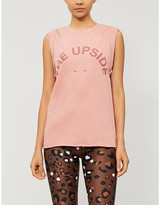 The Upside Muscle logo-print cotton-jersey top
