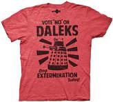 Ripple Junction Heather Red 'Vote No On Daleks' Tee - Men's Regular