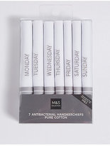 M&S Collection 7 Pack Pure Cotton Handkerchiefs with Sanitized Finish®