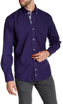 Tailorbyrd Brown Long Sleeve Plaid Woven Shirt