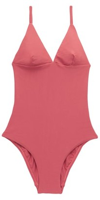 Matteau The Plunge Swimsuit - Dark Pink