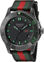 Gucci Men's YA126229 G-Timeless Dive Dial Nylon Strap Watch