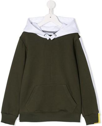 Givenchy Kids colour-block drawstring hoodie
