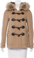 Burberry Fur-Trimmed Duffle Coat