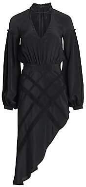 Wandering Women's Crepe Asymetrical Midi Dress