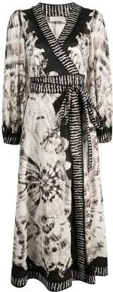 Zimmermann Tie-Dye Print Belted Dress