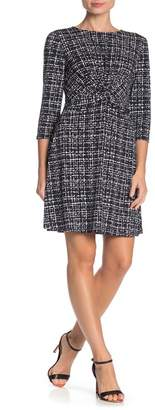 Vince Camuto Printed Twist Front Jersey Dress (Regular & Plus Size)