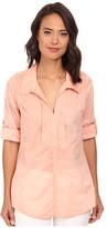 Christin Michaels Pintucked Cotton Shirt