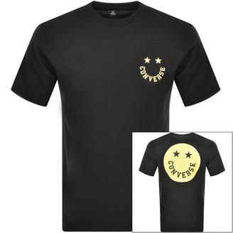 Converse Smiley Logo T Shirt Black