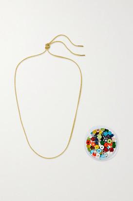 Carolina Bucci Forte 18-karat Gold And Lurex Multi-stone Necklace