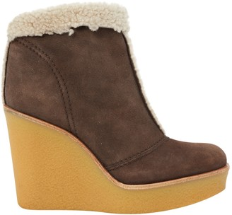 Chloé Brown Suede Ankle boots