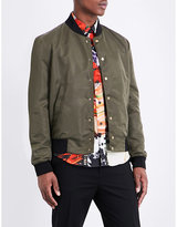 Kenzo Logo-embroidered Shell Bomber Jacket