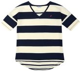 Nautica Little Girls' Striped High-Low V-Neck Top (2T-7)