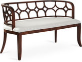 Massoud Furniture Lily 53 Bench, White Linen
