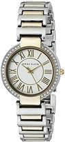 Anne Klein Women's AK/2037SVTT Swarovski Crystal-Accented Two-Tone Bracelet Watch