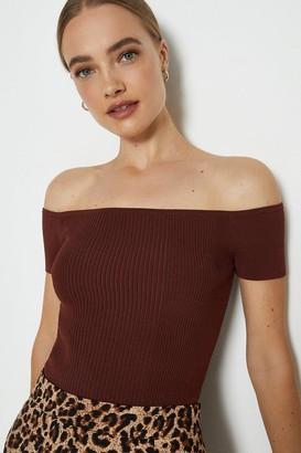 Coast Knitted Rib Bardot Top