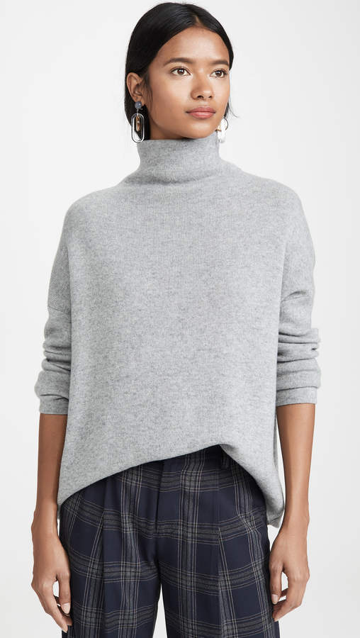 8f83d05ee1e036 Vince Funnel Neck Sweater - ShopStyle
