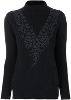 Zanone embroidered detail jumper