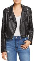 Sunset & Spring Sunset + Spring Studded Cropped Faux Leather Moto Jacket - 100% Exclusive