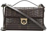 Salvatore Ferragamo studded Gancio flap bag - women - Calf Leather - One Size
