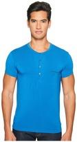 Emporio Armani Premium Stretch Modal Henley Men's T Shirt