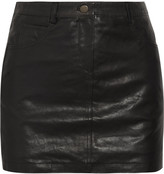 Sara Berman Simple leather mini skirt