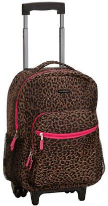 """Rockland Leopard 17"""" Rolling Backpack"""