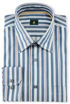 Robert Talbott Striped Woven Dress Shirt, Teal