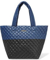 M Z Wallace Metro Two-tone Quilted Shell Tote - Navy