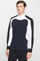 Neil Barrett Men's 'Aerodynamic' Slim Fit Color Block Shirt