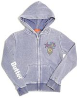 Butter Shoes Little Girl's Embellished Burnout Hoodie