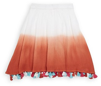 Masalakids Little Girl's Girl's Tie-Dyed Cotton Skirt
