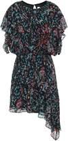 IRO Blame Asymmetric Printed Chiffon Mini Dress