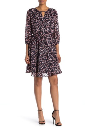 Collective Concepts Ruffled Floral Dress