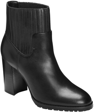 Aerosoles Western-Inspired Leather Ankle Boots- Wardrobe