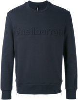 Neil Barrett stripe hem sweatshirt - men - Cotton - S