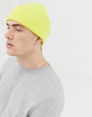 Weekday Hero Knit beanie in yellow