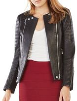 BCBGMAXAZRIA Blake Double-Zip Leather Jacket
