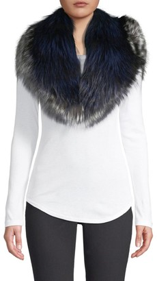 Pologeorgis Bi-Color Fox Fur Collar