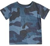 River Island Mini boys blue camo T-shirt