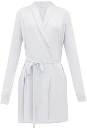 Skin - Basic Pima Cotton Robe - Womens - Light Blue