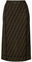 Fendi Women's Brown Polyamide Skirt.