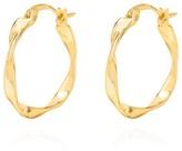 Coco Mango Jewellery Cecile Twisted Huggie Hoop Earrings