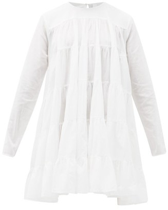 Merlette New York Soliman Tiered Cotton Mini Dress - White