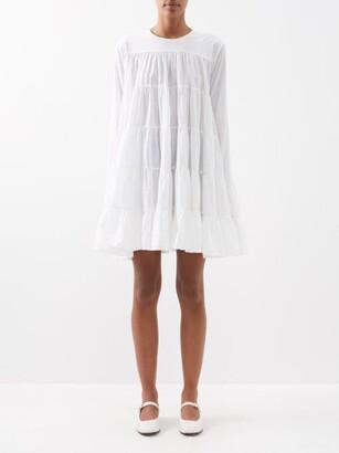 Merlette New York Soliman Tiered Cotton Mini Dress - Womens - White