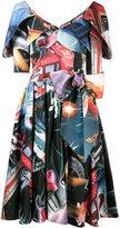 Moschino space print dress - women - Polyamide/Viscose - 38