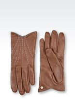 Emporio Armani Gloves In Lambskin With Stitching