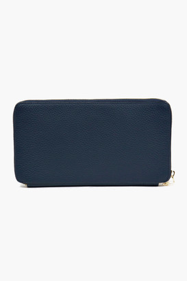 Neely & Chloe Navy Pebble Leather The Travel Wallet