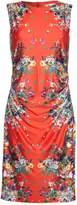 Yumi Sleeveless Mirrored Floral Dress